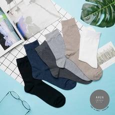 韓國襪子 純色條紋中筒襪(男) 【K0487】正韓長襪 型男必備 百搭純色襪子