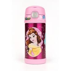 【美國膳魔師THERMOS】迪士尼公主粉紅款 迪士尼不鏽鋼吸管水壺355ML