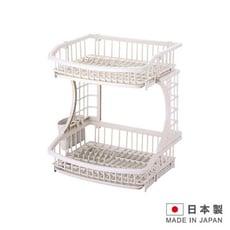 PEARL METAL 日本製造 雙層碗盤瀝水架 IN-H6615