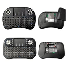 【i8注音七色背光版】2.4G迷你無線鍵盤 空中觸控滑鼠 飛鼠鍵盤安博
