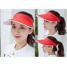 旅遊戶外大帽涼帽遮陽必備好收納遮陽帽 韓版潮 太陽帽 防曬帽子 遮臉鴨舌帽 棒球帽