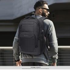 運動輕時尚防水雙層 多功能人體工學設計 商務時尚休閒旅行出差USB充電15.6吋筆電雙肩後背包