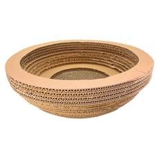瓦紙貓抓板(碗型) 木板色碗型瓦楞紙貓抓板 貓窩 貓床貓沙發 磨爪板貓玩具