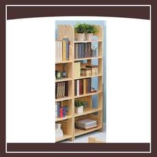 實木書櫃(六格) 21046070010