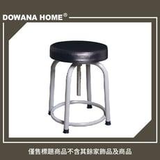 英式螺旋升降工作椅(灰腳)-黑皮厚墊 20102367033