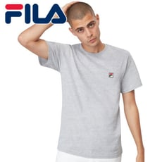 FILA 美國進口 運動品牌 男生LOGO T-SHIRT 短袖上衣 短T 灰色現貨