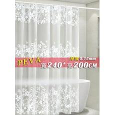 防水浴簾 PEVA加厚鐵樹銀花 寬240x高200 240*200 附掛勾 可當門簾 隔間簾 窗簾