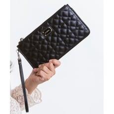 le Lufon 經典格紋皮革手拿包/零錢包/長夾/手機包