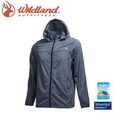 Wildland 荒野 男 可溶紗環保吸排透氣外套《深灰》0A71908/連帽防曬/運動休閒/夾克/