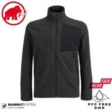 MAMMUT 長毛象  男 Madris ML刷毛立領外套《黑》1014-02420/保暖外套