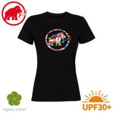 MAMMUT 長毛象 女 Nations T-Shirt 短袖世界T《黑》1017-02230/棉T