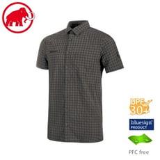 MAMMUT 長毛象 男 Lenni 短袖排汗襯衫《鈦金灰》1015-00300/透氣快乾/吸濕排汗