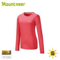 Mountneer 山林 女 透氣排汗長袖上衣《深玫紅》21P26/排汗衣/運動上衣/運動T恤/休閒
