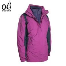 DEODAR女 防水兩件式羽絨外套 紫紅 防水外套/羽絨外套/兩件式外套/非GORE-TEX/423
