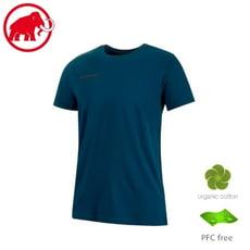 MAMMUT 長毛象 男 Logo T-Shirt 短袖T恤《波塞頓藍》 1017-07292/圓領