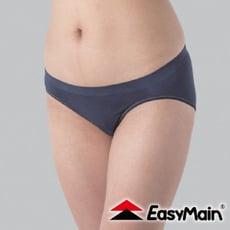 EasyMain 無縫高彈性快乾輕柔內褲《黑》YE00009-75/排汗機能/運動內褲/透氣快乾/三