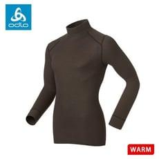 ODLO 瑞士 男 高領長袖排汗內衣《咖啡》152012/保暖內衣/內層/衛生衣