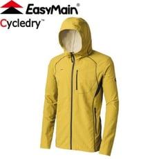 EasyMain 衣力美 男款 輕巧耐磨快乾夾克風衣《橄欖黃》輕量快乾/防風/連帽外套/CE1708