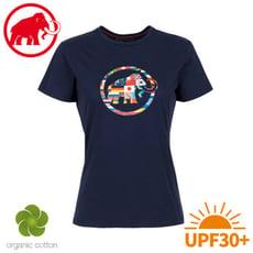 MAMMUT 長毛象 女 Nations T-Shirt 短袖世界T《藏青》1017-02230/棉