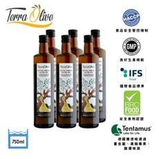 【Terra菜更香】西班牙冷壓初榨橄欖油(750mlx6瓶)