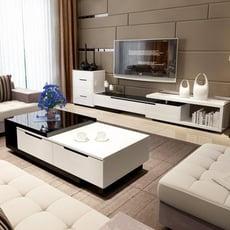 全館75折-電視櫃客廳現代簡約烤漆電視櫃茶几臥室電視機櫃伸縮牆小戶wy