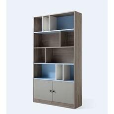 簡約現代原木色書櫃 客廳經濟型置物架 書房儲物收納櫃子 居家多功能收納櫃 臥室簡易收納架 XH