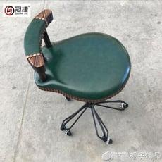 新款火燒木炭木大工椅護士凳 不卡發大工凳輪美發凳 剪發椅子qm【3C精品閣】