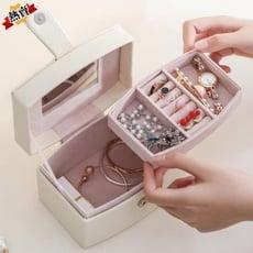 戒指盒 首飾盒女公主多層大容量便攜歐式小號迷你戒子手鐲項鏈飾品收納盒【3C精品閣 】