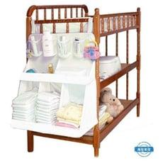 兒童床收納袋兒童床頭大號掛袋架新生兒尿布雜物收納架初生兒童用品整理架【3C精品閣】