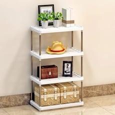 廚房置物架廚房層架塑膠落地收納儲物架 浴室辦公桌上整理架子【3C精品閣】 - 四層