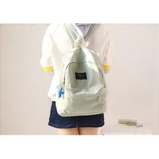 純色帆布書包女小清新初中學生後背包女高中後背背包