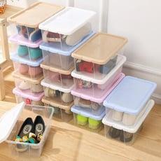 加厚透明鞋盒塑膠防潮防塵簡易鞋子收納盒男女通用鞋盒套裝6個裝【3C精品閣】
