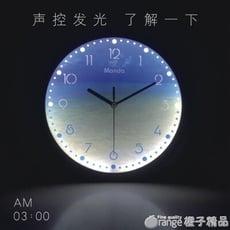 夜光鐘表時鐘掛鐘簡約臥室客廳超靜音北歐家用時尚LED創意石英鐘【3C精品閣】 - 12英寸