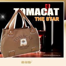 可愛呆萌療癒番茄貓咪側背包還有隨機贈送零錢包