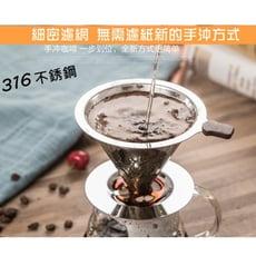 【台灣milomix】雙層316不鏽鋼濾網杯1-2人份(小號)/咖啡濾杯