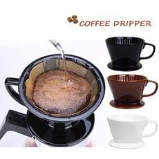 日式陶瓷三孔滴漏式咖啡濾杯1~4人份(大號)隨機出貨 手沖濾杯  (手沖咖啡)