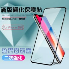 iPhone滿版鋼化玻璃保護貼6/7/8/Plus/X/XS/XR/XSMAX/ i12