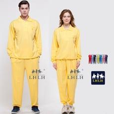 黃色套裝 廟會服 進香服 素 素面 長袖 男 女 Polo衫