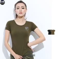 中大尺碼棉t 純棉修身t恤短袖 快速出貨 女 軍綠色