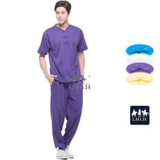 深紫色 中國風 運動套裝 唐裝 休閒套裝 短袖 男生 女生