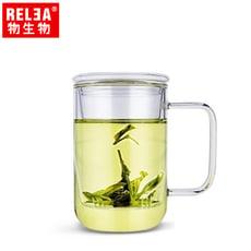 RELEA物生物 420ml君子耐熱玻璃泡茶杯(附濾茶器)