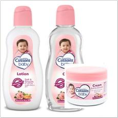 進口CUSSONS佳霜嬰兒潤膚油+乳液+面霜--(200ml/200ml/50g)