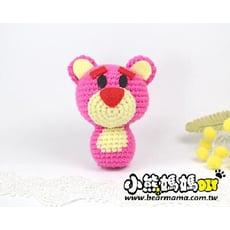 D10-113  小熊媽媽 迪士尼人物  鉤織小玩偶2入  熊抱哥