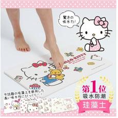 【三麗鷗獨家授權】Hello Kitty滿版粉色吸水珪藻土地墊 24款凱蒂貓