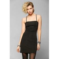 【olina】美國潮牌Urban Outfitters 微彈性細肩帶S曲線小洋裝 黑色S 現貨