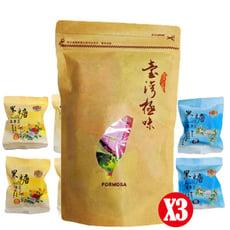 【olina】台灣富貴養生黑糖隨身包-(紅棗薑母*4+桂花*4) -3包組