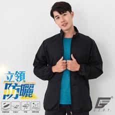 台灣製UPF50+防潑水輕量防風立領外套(男款)