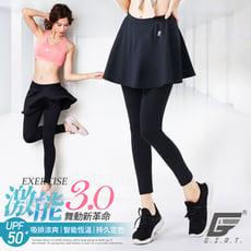 台灣製激能3.0排汗防曬壓力裙褲