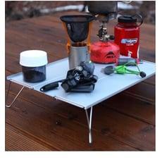 戶外單人鋁板桌 迷你折疊桌 登山 露營 燒烤 旅行 附收納袋
