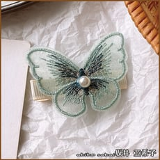『坂井.亞希子』日本森林系手工刺繡蝴蝶造型髮夾